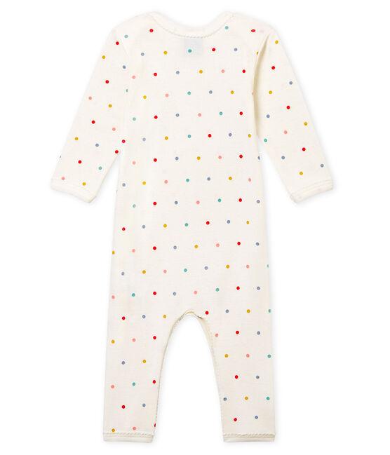 Baby Girls' Ribbed Long-Legged Bodysuit Marshmallow white / Multico white