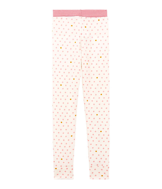 Little girl's pyjama bottoms Marshmallow white / Multico white