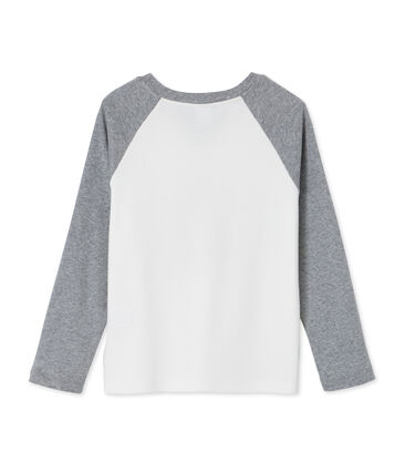 Boy's long sleeved screen print T-shirt