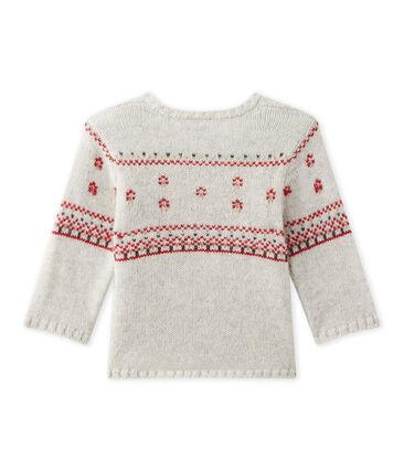 Baby's unisex knitted cardigan Montelimar Chine grey