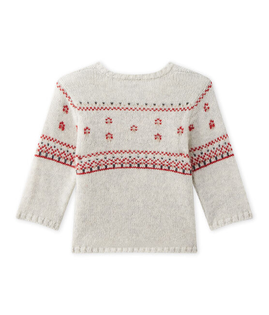 Baby's unisex knitted cardigan Montelimar Chine grey