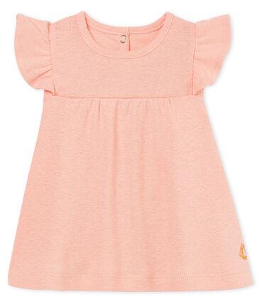 Baby girls' cotton/linen blouse Rosako pink