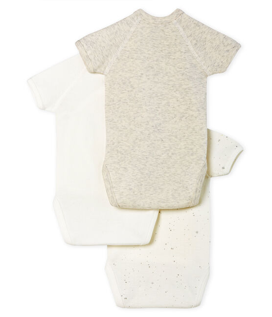 Short-Sleeved Newborn Bodysuit - 3-Piece Set . set
