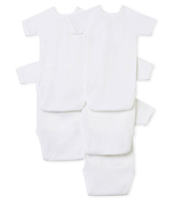 Unisex Babies' Short-Sleeved Newborn Bodysuit - Set of 5 . set