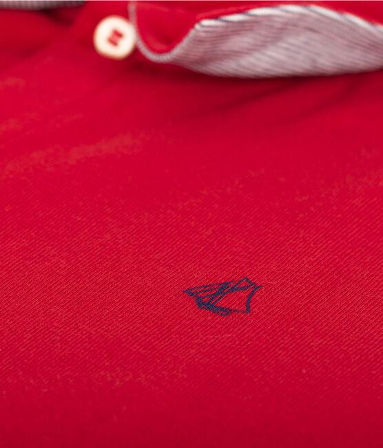Boys' Polo Shirt Terkuit red