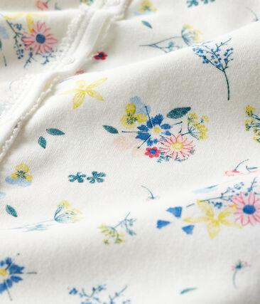 Baby Girls' Ribbed Sleepsuit Marshmallow white / Multico white