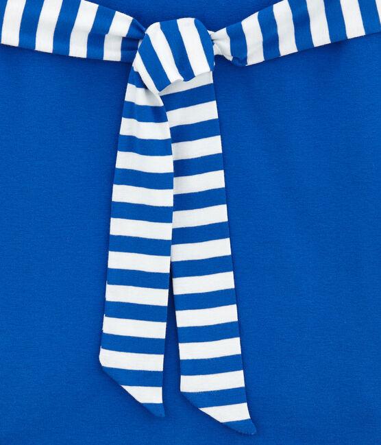 Women's short sleeve dress Perse blue