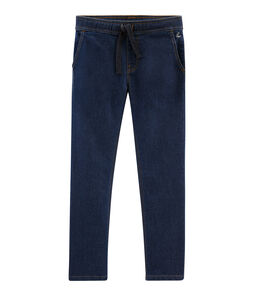 Boys' Denim Trousers Denim Bleu Fonce blue