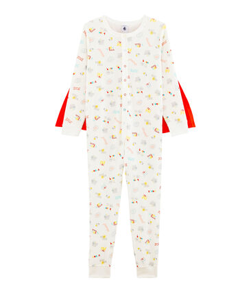 Boys' Fancy Dress Jumpsuit Marshmallow white / Multico white
