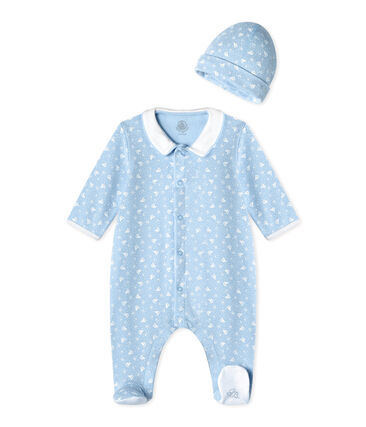 Baby's sleepsuit and its newborn hat