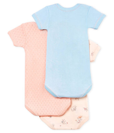 Baby Girls' Short-Sleeved Bodysuit - Set of 3 . set