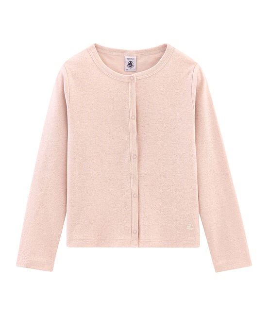Girls' Cardigan Pearl pink / Copper pink