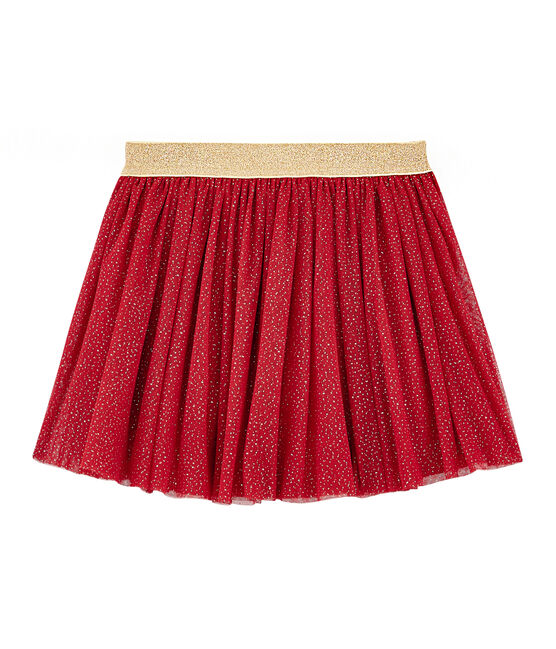 Girls' Tulle Skirt Terkuit red / Or yellow