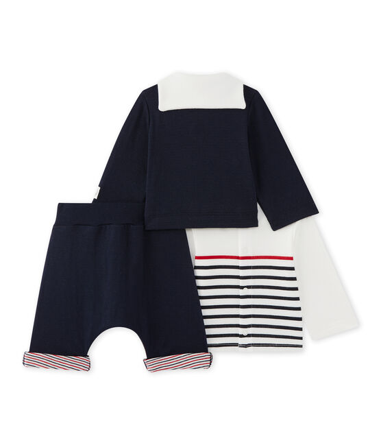 Baby 3-piece set Smoking blue / Multico white