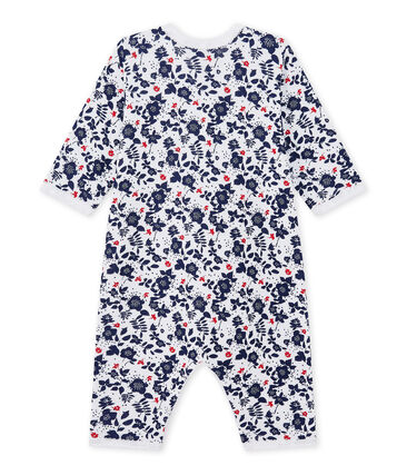 Baby girl's footless sleepsuit in a double knit