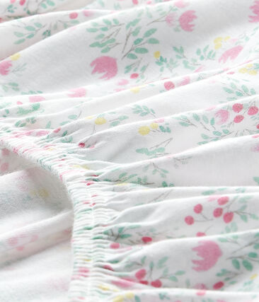 Baby girl's 120 x 60 fitted crib sheet