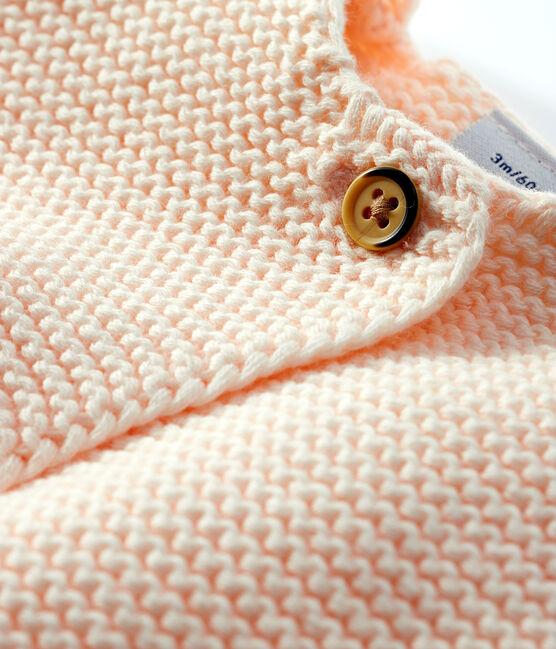 Babies' Organic Cotton Knit Cardigan Fleur pink