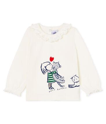 Baby Girls' Long-Sleeved Blouse Marshmallow Cn white