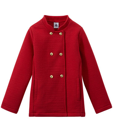 Girl's quilted double knit coat