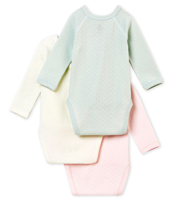Newborn baby girl's long sleeved body trio . set
