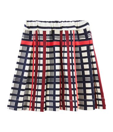 Girls' Pleated Checked Skirt