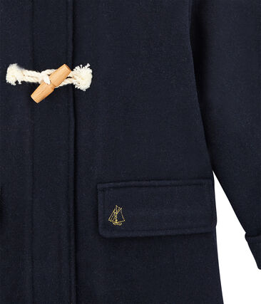 Girl's duffle coat Smoking blue