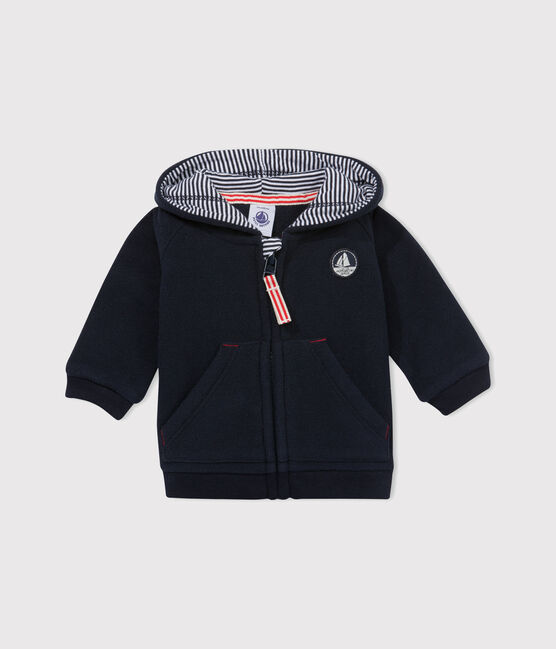 Baby boy's fleece sweatshirt Abysse blue