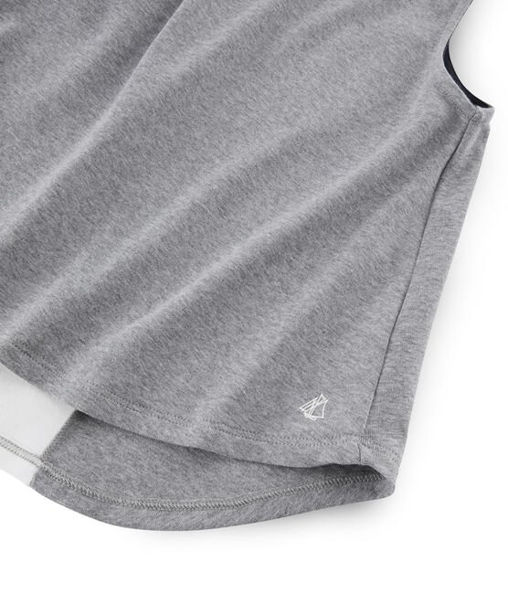 Girls' Sleeveless Sports Top Subway grey