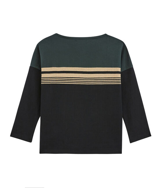 Women's Fashion Stripe Sweater Noir black / Multico white