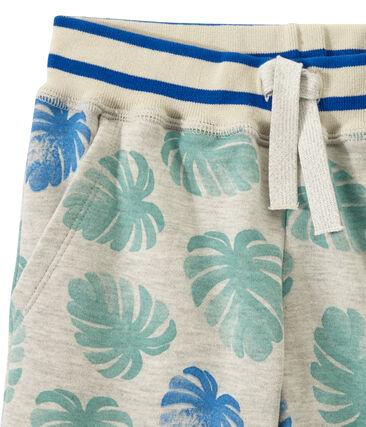 Boy's bermudas in light print fleece