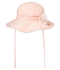 Baby girls' striped hat