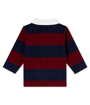 Baby boy's striped polo shirt