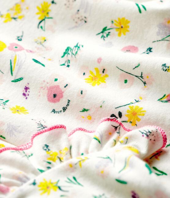 Baby Girls' Short-Sleeved Print Blouse Marshmallow white / Minois pink