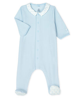 Baby Boys' Velour Sleepsuit Fraicheur blue
