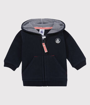 Baby boy's fleece sweatshirt Abysse blue