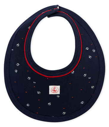 Baby boy's sailboat print bib