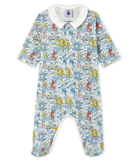 Baby Boys' Cotton Sleepsuit Marshmallow white / Multico white