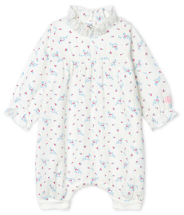 Baby Girls' Easy-Care Jumpsuit Marshmallow white / Multico white