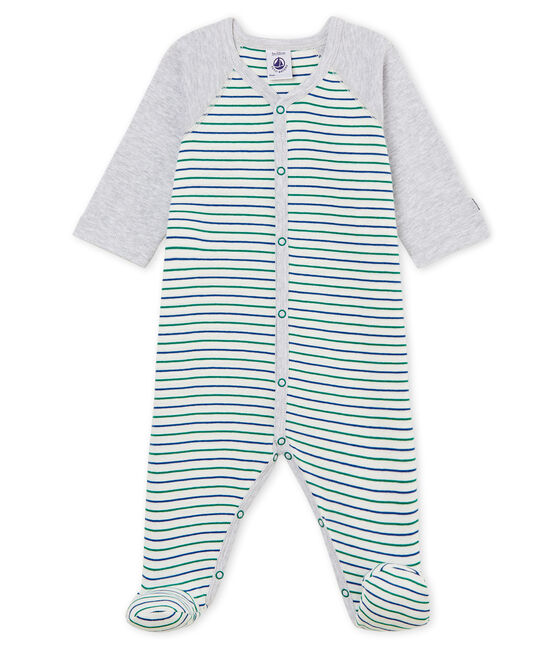 Baby Boys' Sleepsuit Marshmallow white / Multico white