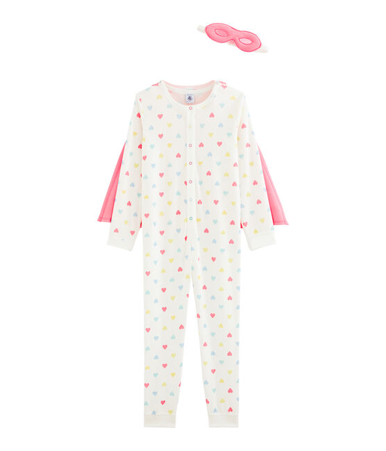 Girls' Fancy Dress Jumpsuit Marshmallow white / Multico white