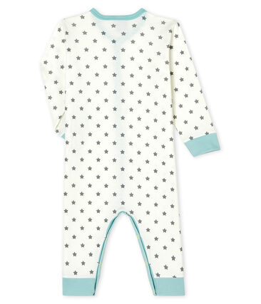 Baby Boys' Footless Ribbed Sleepsuit Marshmallow white / Gris grey