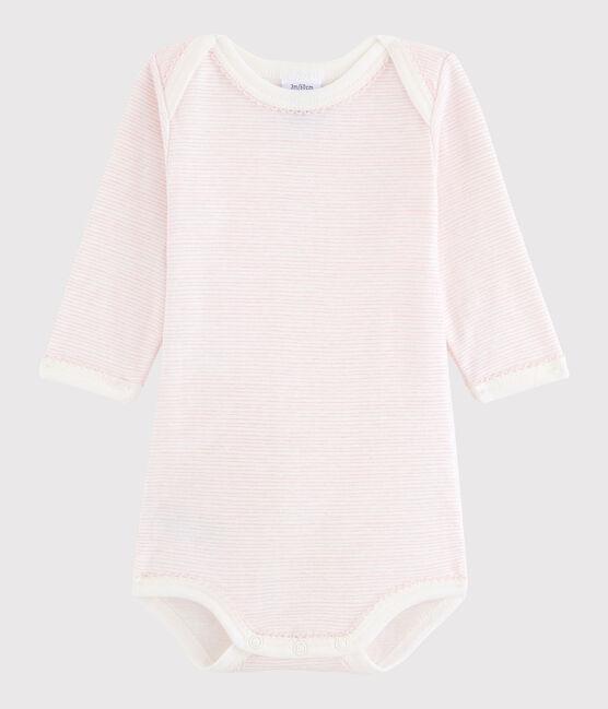 Baby Girls' Long-Sleeved Bodysuit LAIT/BABYLONE