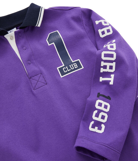 Boys' Polo Shirt Real purple