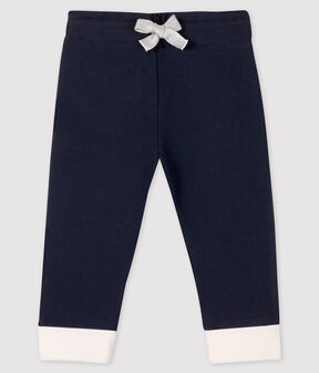 Baby girl's fleece leggings Smoking blue