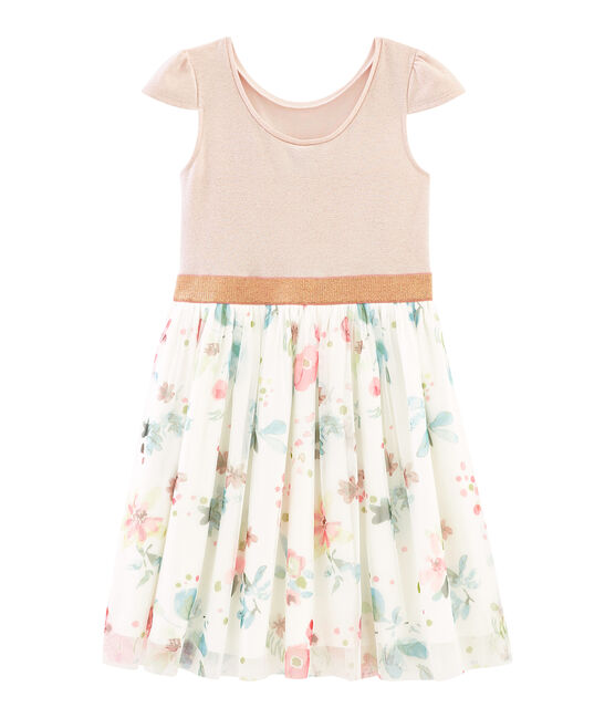 Girls' Dress Pearl pink / Multico white