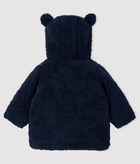 Baby girl's sherpa coat Smoking blue
