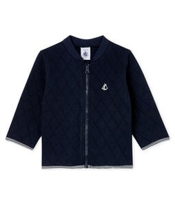 Baby Boys' Quilted Tube Knit Cardigan Smoking blue