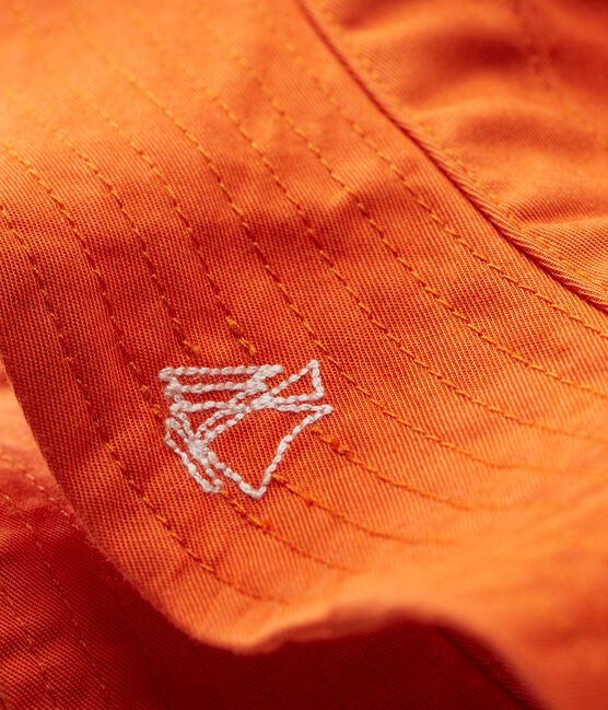 Baby boys' twill sun hat Carotte orange