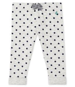 Baby Boys' Print Tube Knit Trousers. Beluga grey / Smoking blue