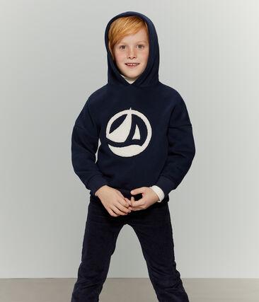 Unisex Children's Sweatshirt Smoking blue